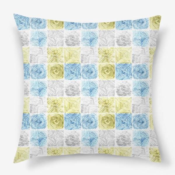 Подушка «Текстурная мозаика. Акварель»