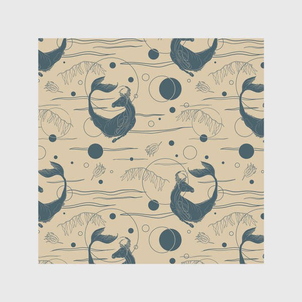 Шторы «Fishorse pattern»