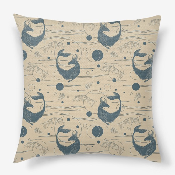 Подушка «Fishorse pattern»