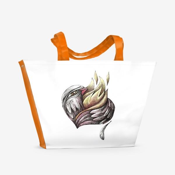 Пляжная сумка «Пылающее сердце»