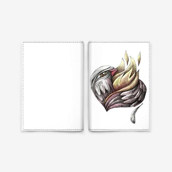 Обложка для паспорта «Пылающее сердце»