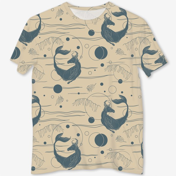 Футболка с полной запечаткой «Fishorse pattern»