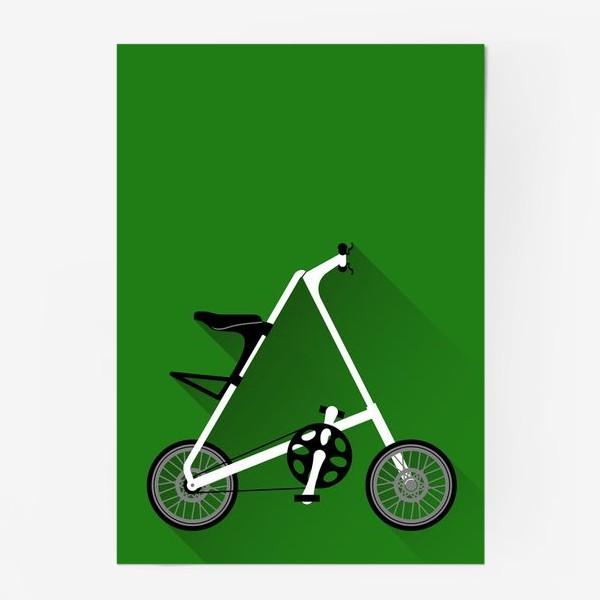 Постер «А-байк на зеленом фоне. Велосипед»