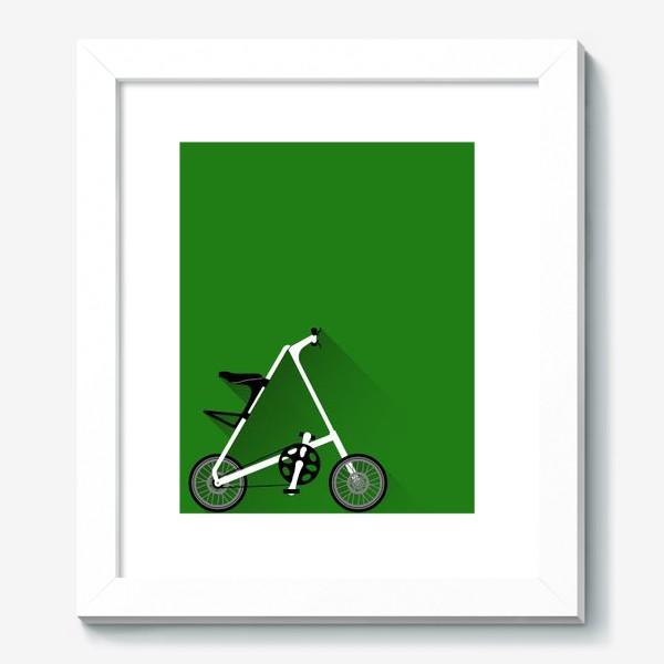 Картина «А-байк на зеленом фоне. Велосипед»