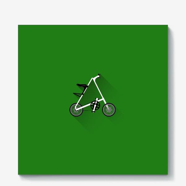 Холст «А-байк на зеленом фоне. Велосипед»