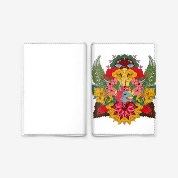 Обложка для паспорта «Гавайский единорог»