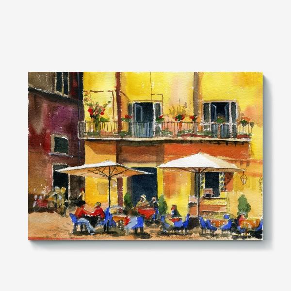 Холст «Рим. Уличное кафе»