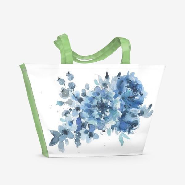 Пляжная сумка «Синие цветы»