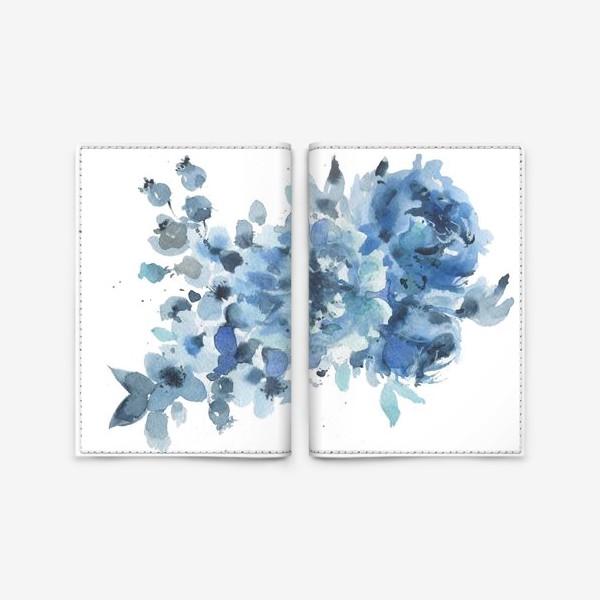 Обложка для паспорта «Синие цветы»
