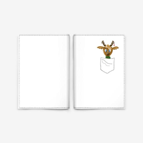 Обложка для паспорта «Олененок в кармашке»