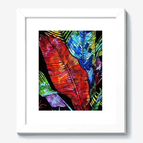 Картина «мозаика цвета на листьях»