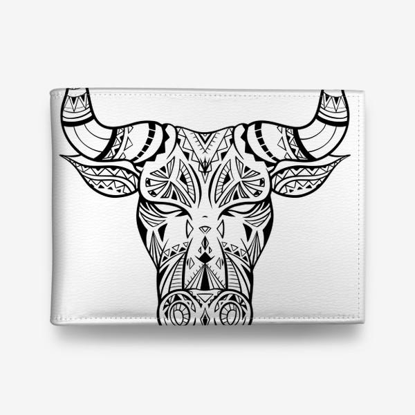 Кошелек «Бохо бык с узором »