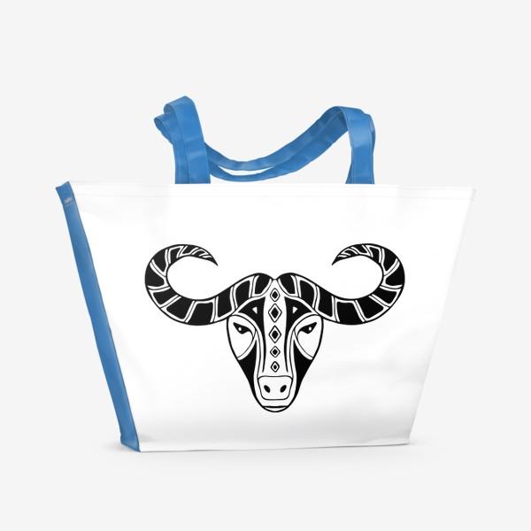 Пляжная сумка «Год быка 2021. Символ Нового года»