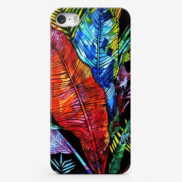 Чехол iPhone «мозаика цвета на листьях»