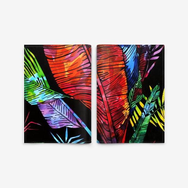 Обложка для паспорта «мозаика цвета на листьях»