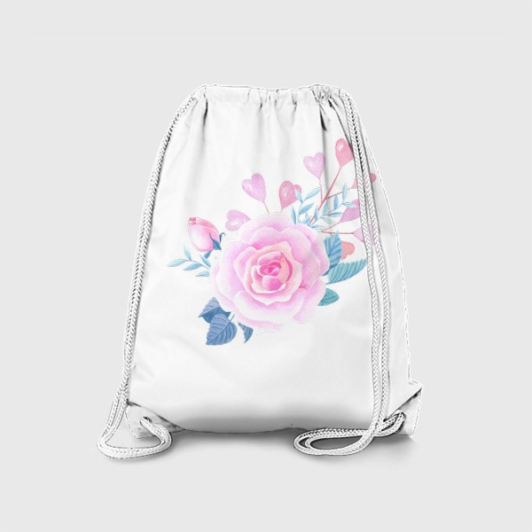 Рюкзак «Роза и розовые сердечки»