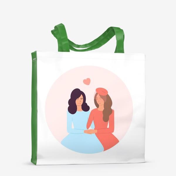 Сумка-шоппер «Влюбленная лесбийская пара»