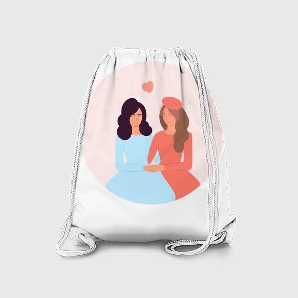 Рюкзак «Влюбленная лесбийская пара»