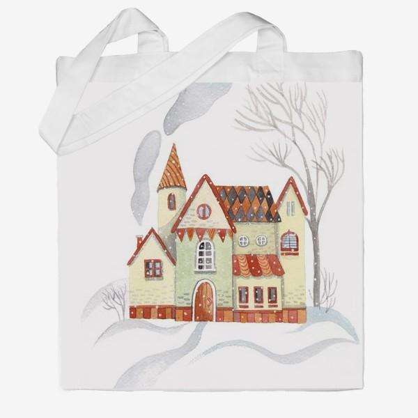 Сумка хб «Зимний домик»