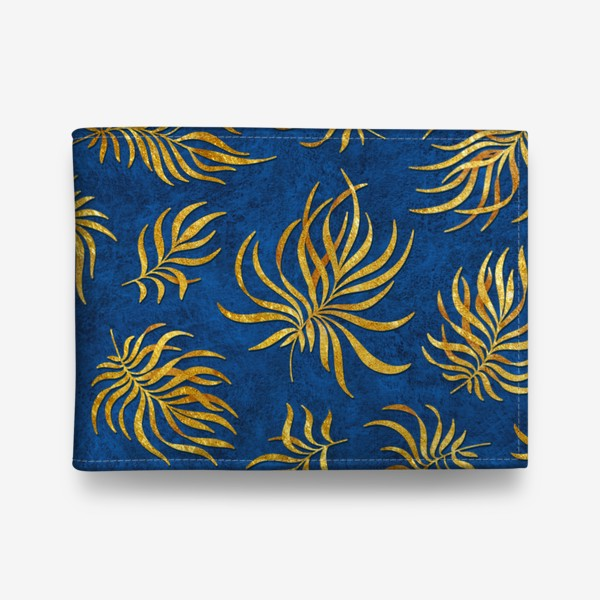Кошелек «Золотые листья на текстурном фоне»