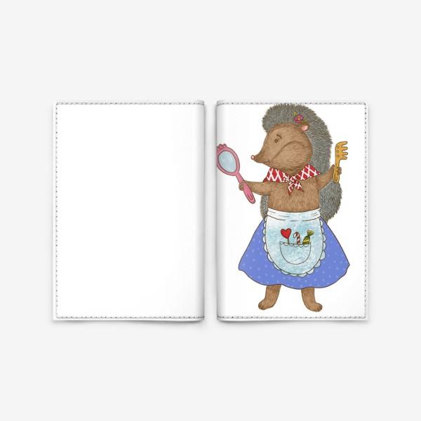 Обложка для паспорта «Маленькая модница ежик»