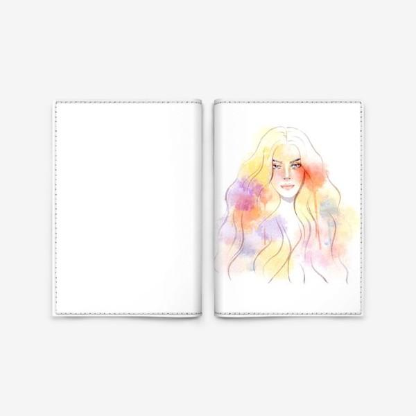 Обложка для паспорта «Акварельная девушка»