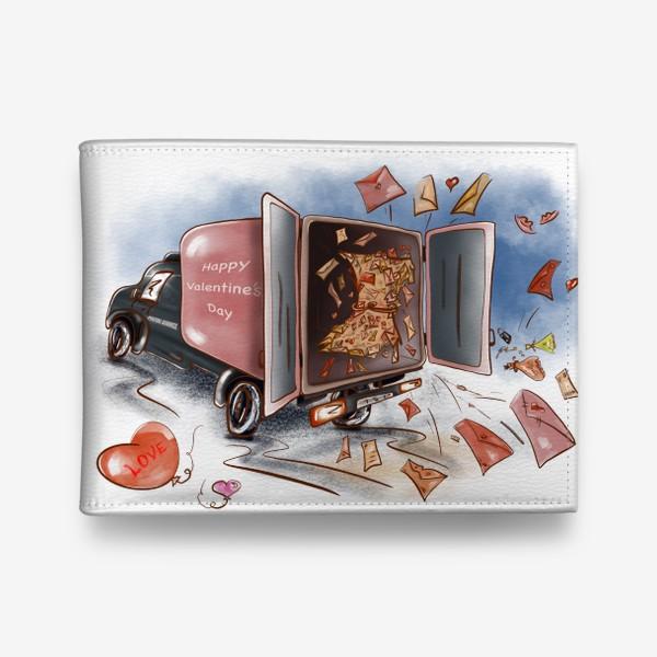 Кошелек «День влюбленных. Почтовая машина с валентинками»