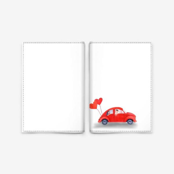 Обложка для паспорта «Красная машинка»