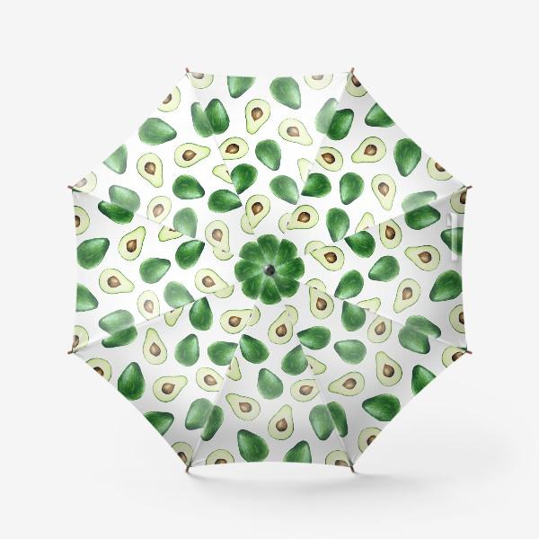 Зонт «Авокадо паттерн белый»