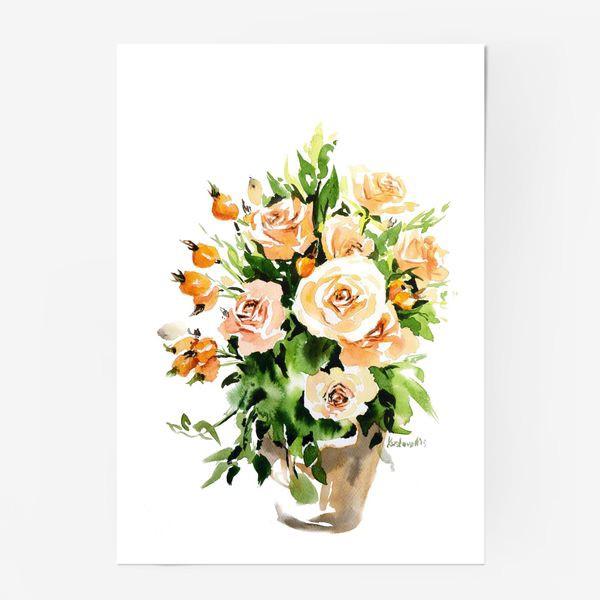 Постер «Чайные розы»