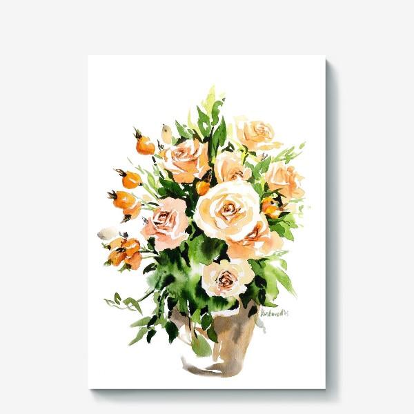 Холст «Чайные розы»