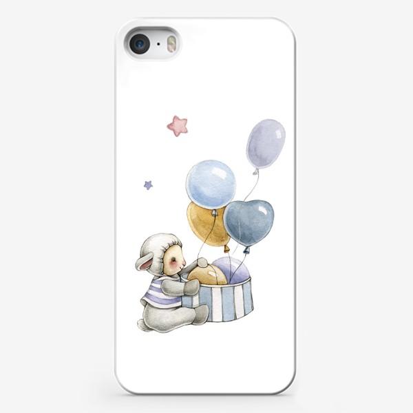 Чехол iPhone «Овечка с подарком»