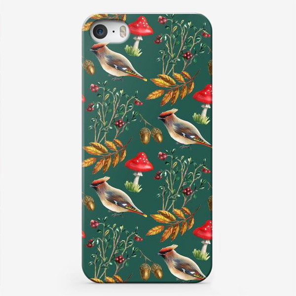 Чехол iPhone «Паттерн с мухоморами»