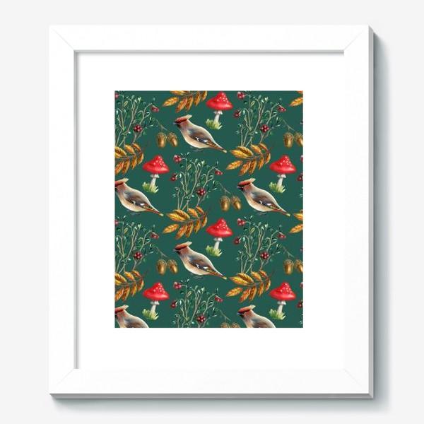 Картина «Паттерн с мухоморами»