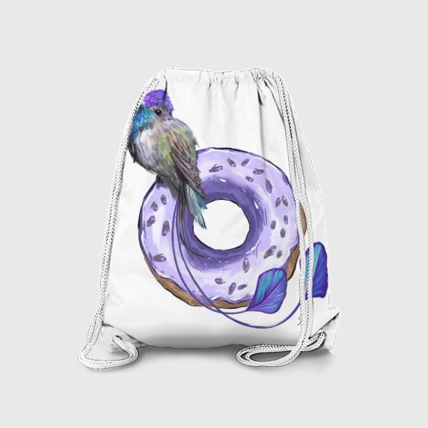 Рюкзак «Колибри и пончик »