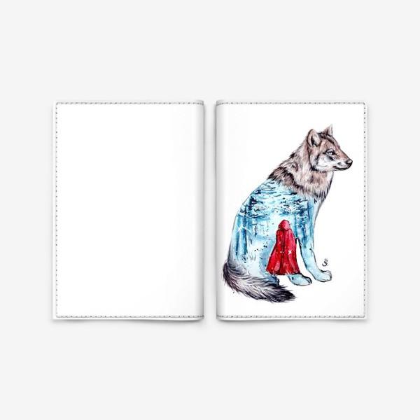 Обложка для паспорта «красная шапочка»