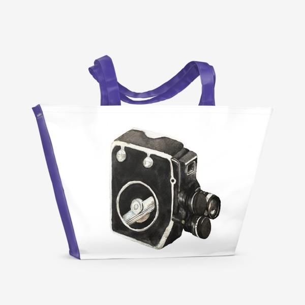 Пляжная сумка «Витражная видео камера»