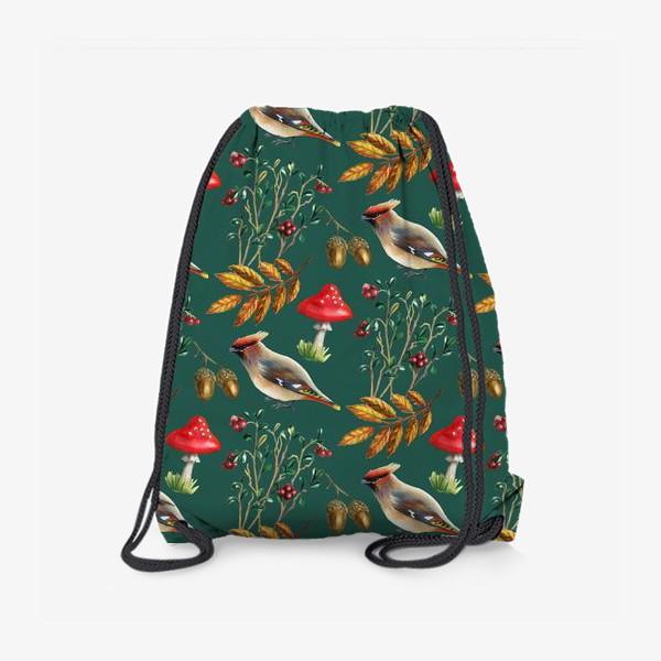 Рюкзак «Паттерн с мухоморами»