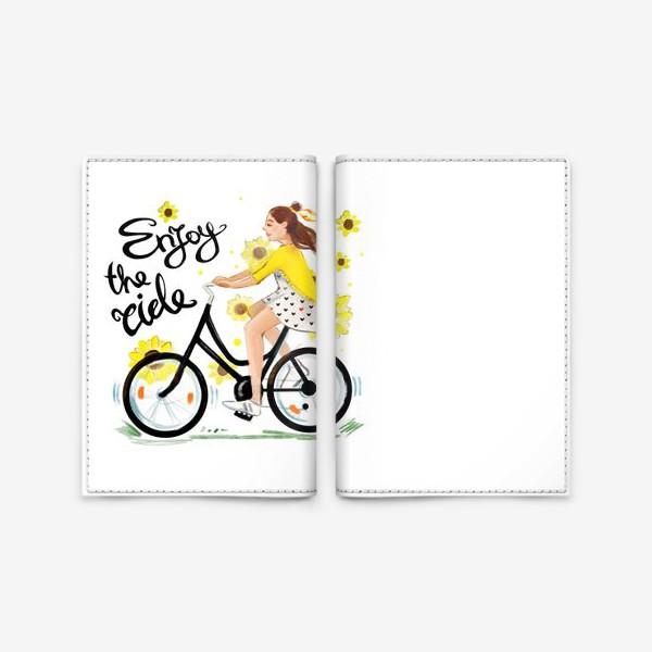 Обложка для паспорта «Велосипедистка»