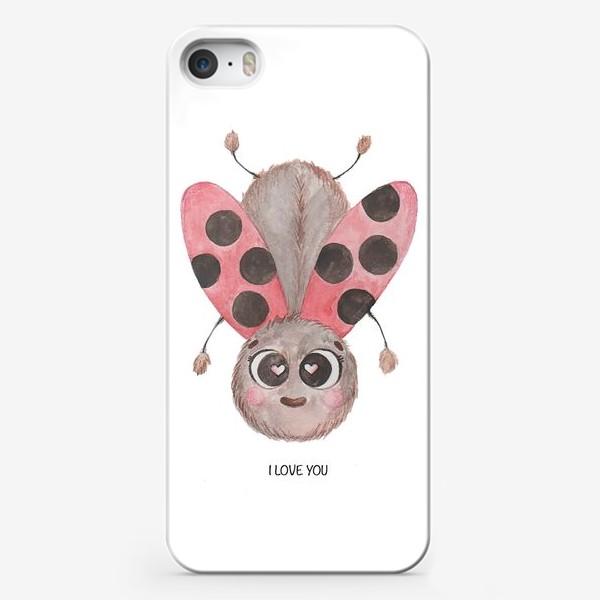 Чехол iPhone «Божья коровка Любовь»