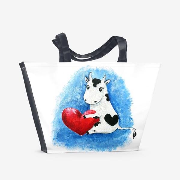 Пляжная сумка «Корова Валентина»