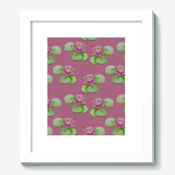 Картина «Лотосы на розовом фоне»