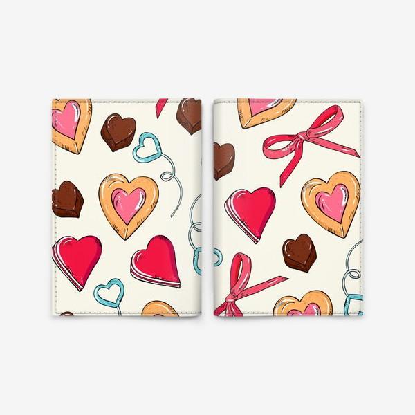 Обложка для паспорта «сладкие сердечки»