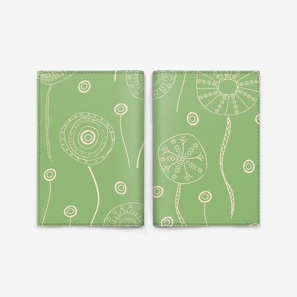 Обложка для паспорта «этнические абстрактные цветы»