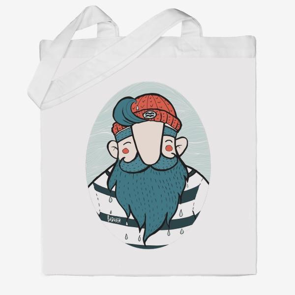 Сумка хб «Водолей. Моряк в красной шапке. Подарок водолею.»