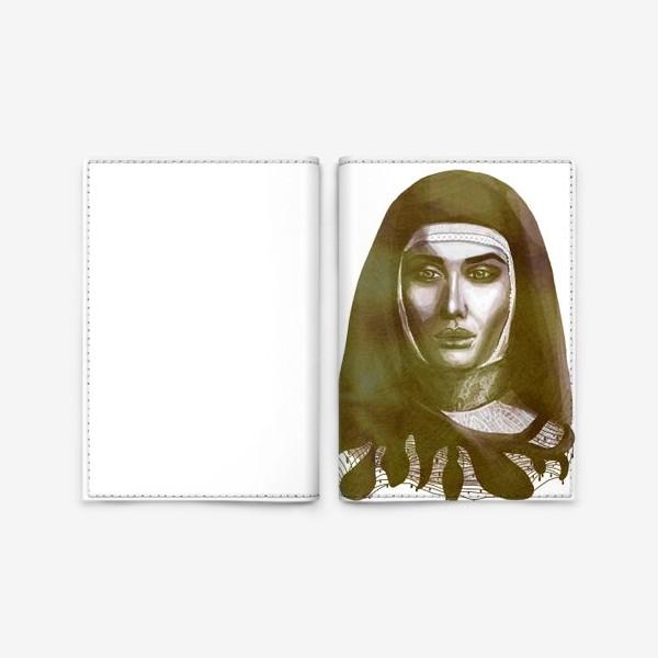 Обложка для паспорта «Молодая монахиня. Ретро»