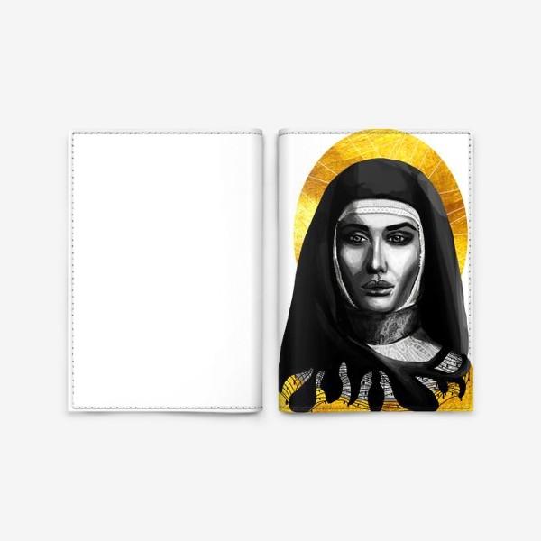 Обложка для паспорта «Молодая монахиня. Золото»