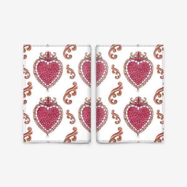 Обложка для паспорта «Рубиновое сердце»