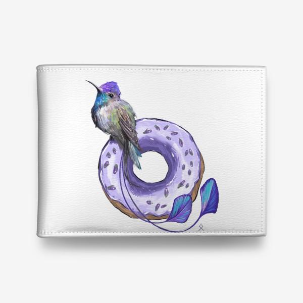 Кошелек «Колибри и пончик »