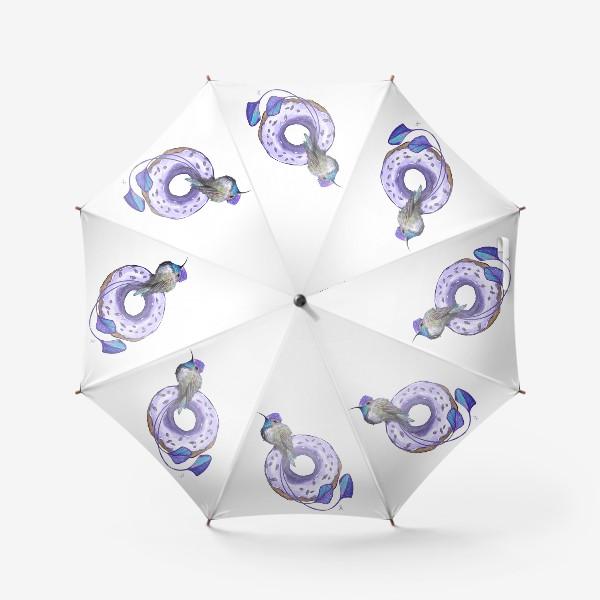 Зонт «Колибри и пончик »